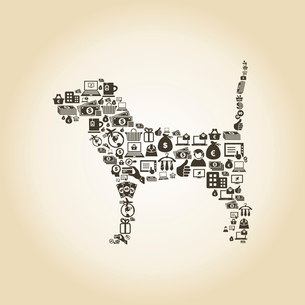 Dog made of business. A vector illustrationのイラスト素材 [FYI03088891]