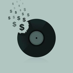 Symbol of dollar from Vinyl. A vector illustrationのイラスト素材 [FYI03088896]