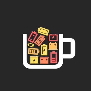 Cup the filled battery. A vector illustrationのイラスト素材 [FYI03088949]