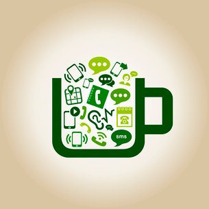 Cup the filled communication. A vector illustrationのイラスト素材 [FYI03088956]