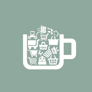 Cup the filled sale. A vector illustrationのイラスト素材 [FYI03088968]
