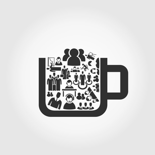 Cup filled user. A vector illustrationのイラスト素材 [FYI03088987]