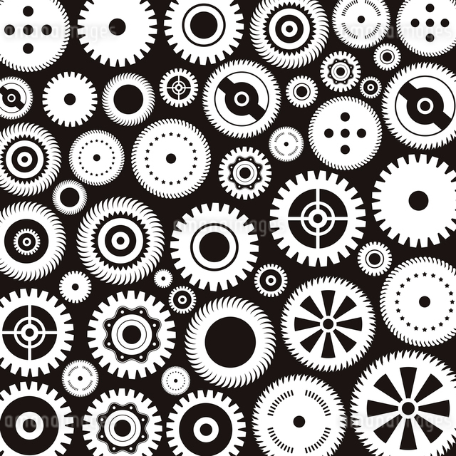 Background made of gear wheels. A vector illustrationのイラスト素材 [FYI03088989]