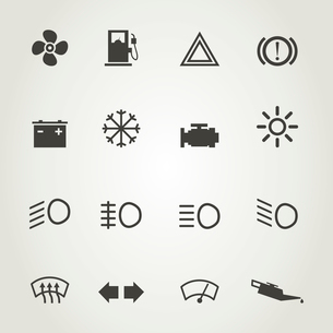 Set of icons of devices of the car. A vector illustrationのイラスト素材 [FYI03089000]