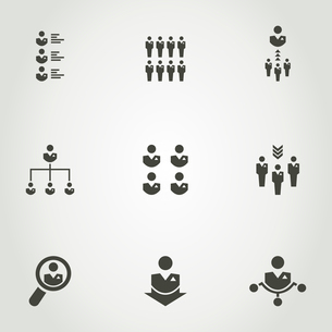 Set of icons a network of people. A vector illustrationのイラスト素材 [FYI03089007]