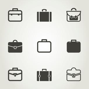 Set of icons a portfolio. A vector illustrationのイラスト素材 [FYI03089011]