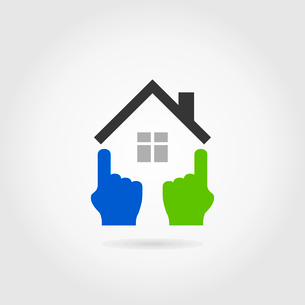 The house of a wall in the form of hands. A vector illustrationのイラスト素材 [FYI03089080]