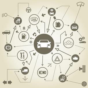 Transport on the scheme. A vector illustrationのイラスト素材 [FYI03089117]