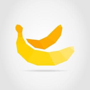 Yellow banana on a grey backgroundのイラスト素材 [FYI03089160]
