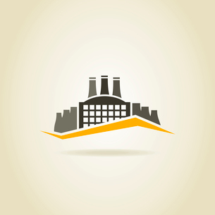 Factory building in the industryのイラスト素材 [FYI03089173]