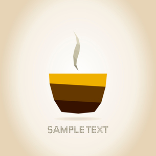 Brown cup of coffee and smoke from hot coffeeのイラスト素材 [FYI03089174]