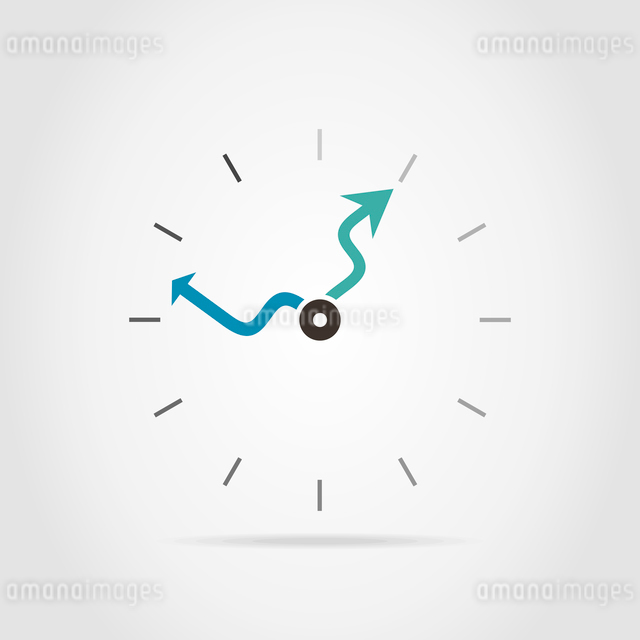 Dial of hours with curve arrowsのイラスト素材 [FYI03089194]
