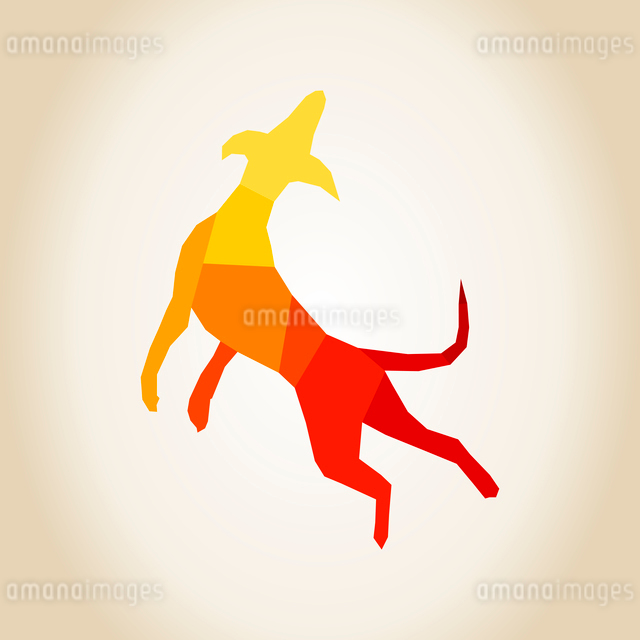 Dog in a jump. A vector illustrationのイラスト素材 [FYI03089247]
