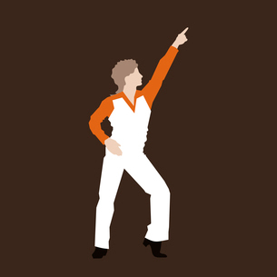Retro the dancer of a disco. A vector illustrationのイラスト素材 [FYI03089258]