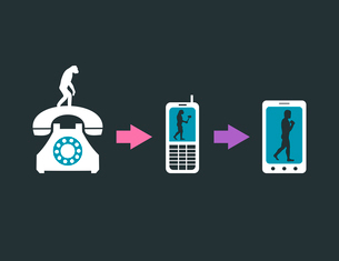 Telecommunication evolution. A vector illustrationのイラスト素材 [FYI03089269]