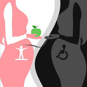 two pregnant women healthy lifestyleのイラスト素材 [FYI03089304]