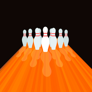 Size and path for bowling. A vector illustrationのイラスト素材 [FYI03089332]