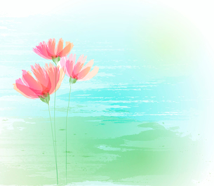 Vector illustration Flower retro grunge background. EPS 10のイラスト素材 [FYI03089385]