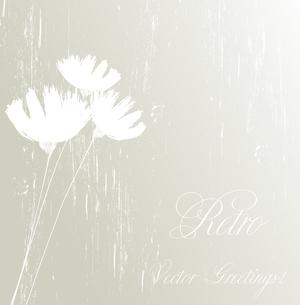 Vector illustration Flower retro grunge background. EPS 10のイラスト素材 [FYI03089449]