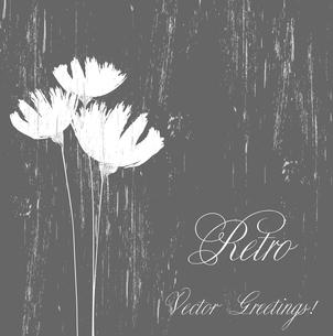 Vector illustration Flower retro grunge background. EPS 10のイラスト素材 [FYI03089452]