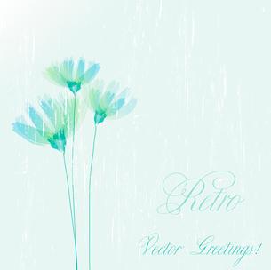 Vector illustration Flower retro grunge background. EPS 10のイラスト素材 [FYI03089454]