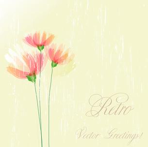 Vector illustration Flower retro grunge background. EPS 10のイラスト素材 [FYI03089457]