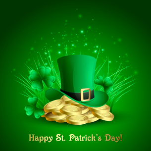 Vector illustration St. Patrick,s backgroundのイラスト素材 [FYI03089525]