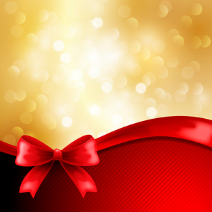 Holiday  gift cards with ribbons. Vector backgroundのイラスト素材 [FYI03089528]