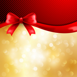 Holiday  gift cards with ribbons. Vector backgroundのイラスト素材 [FYI03089530]