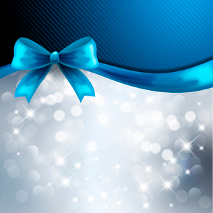 Holiday  gift cards with ribbons. Vector backgroundのイラスト素材 [FYI03089533]