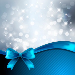 Holiday  gift cards with ribbons. Vector backgroundのイラスト素材 [FYI03089535]