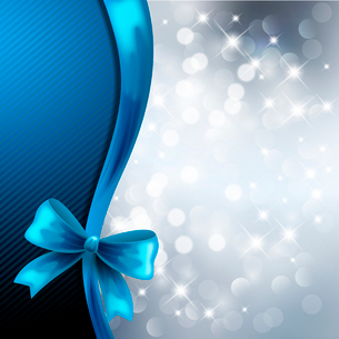 Holiday  gift cards with ribbons. Vector backgroundのイラスト素材 [FYI03089539]