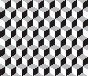 Vector Abstract geometric  seamless pattern with 3d cubesのイラスト素材 [FYI03089573]