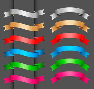 Set of vector ribbon banner for your textのイラスト素材 [FYI03089588]