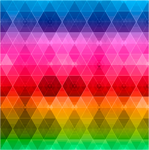 Retro pattern of geometric shapes. Colorful mosaic banner.のイラスト素材 [FYI03089659]