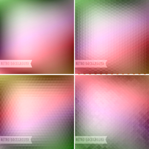 Vector illustration Retro colorful backgrounds collectionのイラスト素材 [FYI03089706]