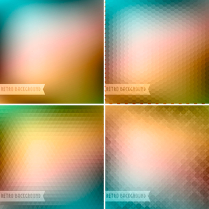 Vector illustration Retro colorful backgrounds collectionのイラスト素材 [FYI03089712]