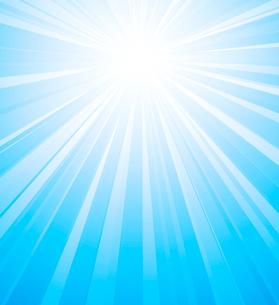 Vector illustration Orange summer sun light burstのイラスト素材 [FYI03089735]