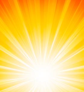 Vector illustration Orange summer sun light burstのイラスト素材 [FYI03089745]