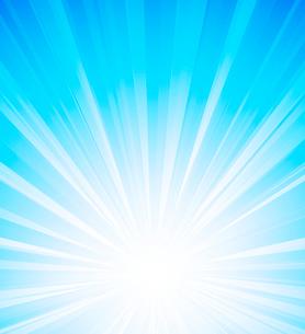 Vector illustration Orange summer sun light burstのイラスト素材 [FYI03089753]