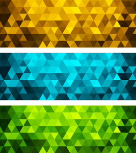 Vector color abstract geometric banner with triangle.のイラスト素材 [FYI03089765]