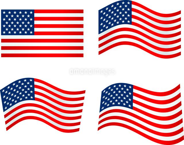 American Flag.  Patriotic background. Vector illustration. EPS 10のイラスト素材 [FYI03089767]