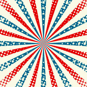 American Independence Day  Patriotic background. Vector illustrationのイラスト素材 [FYI03089773]