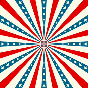 American Independence Day  Patriotic background. Vector illustrationのイラスト素材 [FYI03089775]