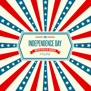 American Independence Day  Patriotic background. Vector illustrationのイラスト素材 [FYI03089778]
