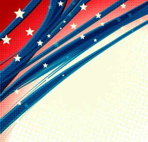 American Independence Day  Patriotic background. Vector illustrationのイラスト素材 [FYI03089785]