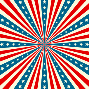 American Independence Day  Patriotic background. Vector illustrationのイラスト素材 [FYI03089787]