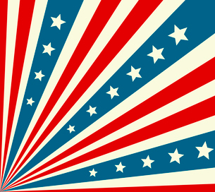 American Independence Day  Patriotic background. Vector illustrationのイラスト素材 [FYI03089794]
