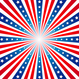 American Independence Day  Patriotic background. Vector illustrationのイラスト素材 [FYI03089795]