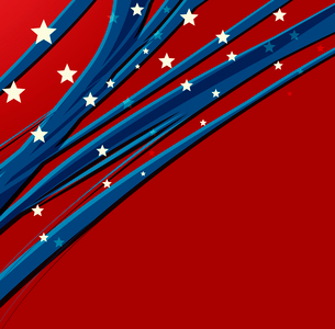 American Independence Day  Patriotic background. Vector illustrationのイラスト素材 [FYI03089797]